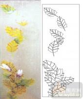 05肌理雕刻系列样图-落叶-00091-雕刻玻璃图案