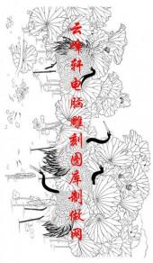 长卷鹤-矢量图-莲塘憩鹤-仙鹤雕刻图片