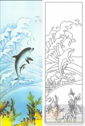 05肌理雕刻系列样图-海豚-00011-雕刻玻璃图案