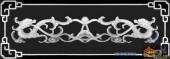 办公桌002-双龙戏珠-016-办公桌浮雕灰度图