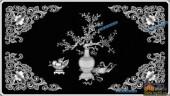 03-花纹-072-花鸟浮雕灰度图