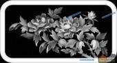 03-芙蓉花-074-花鸟浮雕灰度图