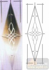 艺术玻璃-浮雕贴片-花纹-00069