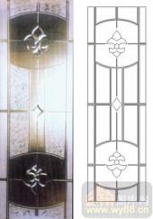 雕刻玻璃-浮雕贴片-花纹-00036