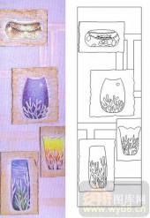 喷砂玻璃图库-肌理雕刻系列1-陶皿-00103