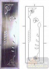 艺术玻璃-浮雕贴片-蝶恋花-00055