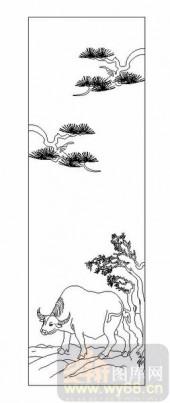03动物系列-牛高马大-00045-艺术玻璃