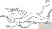 龙-白描图-飞龙在天-long44-龙图片