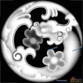草龙-团龙纹-057-龙凤浮雕图库