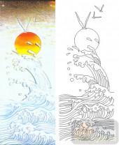 05肌理雕刻系列样图-日出东海-00027-艺术玻璃