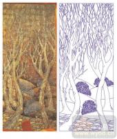 2011设计艺术玻璃刻绘-秋木-雕刻玻璃图案