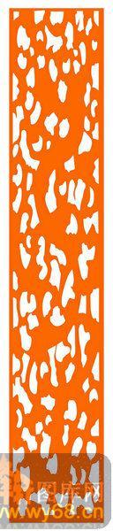 镂空装饰组合式-抽象图案-镂空装饰组合式-036-木雕花镂空隔断