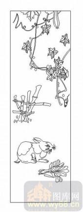 03动物系列-兔子-00096-雕刻玻璃图案