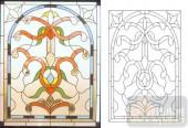 06欧式装饰系列样图-抽象花纹-00016-雕刻玻璃图案