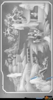 原改-童趣-3404-百子图精雕灰度图