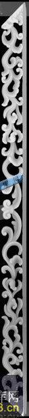 草龙-龙纹-049-龙凤精雕灰度图