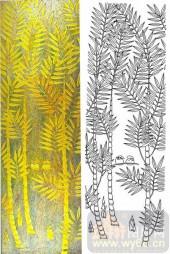 04肌理雕刻系列样图-树林-00230-艺术玻璃