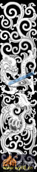 草龙-龙凤呈祥-017-浮雕灰度图