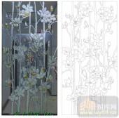 2011设计艺术玻璃刻绘-白玉兰3-艺术玻璃