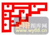 边角1-传统花纹-边角1-001-镂空雕花板