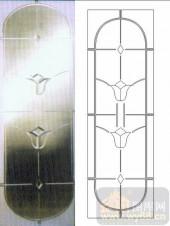 雕刻玻璃-浮雕贴片-艺术花卉-00034