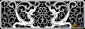 草龙-双龙-067-雕刻灰度图
