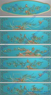 花鸟抽屉板
