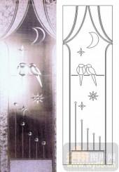喷砂玻璃-浮雕贴片-成双成对-00006