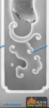 桌子001-古典花纹-006-桌子精雕灰度图