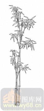 喷砂玻璃-08四扇门(4)-竹子-00084