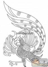 100个中国传统吉祥图-矢量图-景星凤皇-B-016-矢量图案
