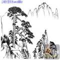 2010.4.3迎客松-白描图-坚韧不拔-yks005-迎客松国画白描