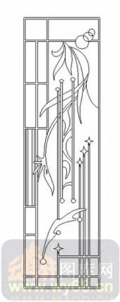 玻璃雕刻-06四扇门(2)-枝藤-00048