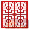 镂空装饰单式001-传统花纹-镂空装饰单式001-001-镂空矢量图