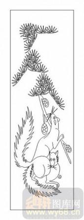 03动物系列-狐狸-00018-雕刻玻璃