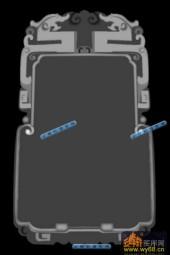 01-双龙框-025-雕刻灰度图