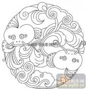 100个中国传统吉祥图-矢量图-祥瑞动物-B-024-路径图