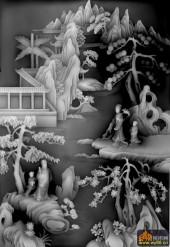 八仙多宝格-八仙多宝格-多宝2-浮雕灰度图
