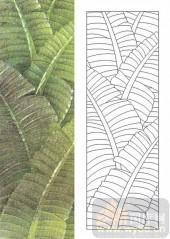 雕刻玻璃图案-肌理雕刻系列1-绿芭蕉-00065