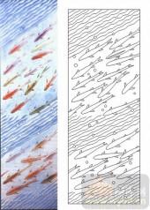 05肌理雕刻系列样图-鱼群-00175-艺术玻璃图库