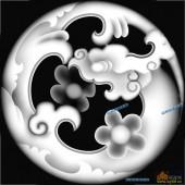 草龙-团龙纹-041-龙凤灰度图案
