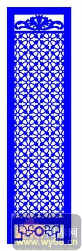 屏风001-圆圈-屏风1-006-密度板镂空隔断欧式花型