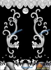 草龙-二龙戏珠-085-浮雕灰度图