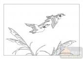 01传统系列-雁影分飞-00027-玻璃门