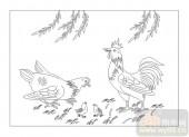 03动物系列-天伦之乐-00038-玻璃雕刻