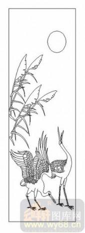 01传统系列-鸣鹤之应-00010-喷砂玻璃