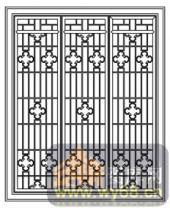 镂空装饰组合式-传统窗扇-镂空装饰组合式-010-镂空花纹矢量图