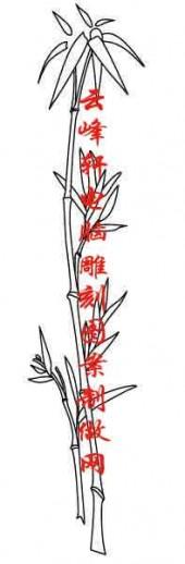 梅兰竹菊-白描图-竹子-mlxj034-梅兰竹菊白描线描图