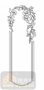 玻璃雕刻-08四扇门(4)-拱形花藤-00058
