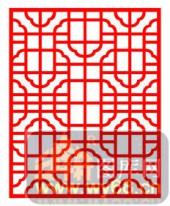 镂空装饰单式001-印花-镂空装饰单式001-023-镂空雕花矢量图